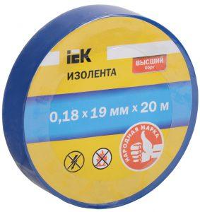 Изолента 0,18х19мм синяя 20м IEK