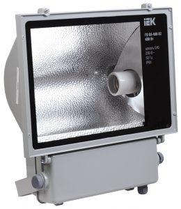 Прожектор металлогалогенный ГО03-400-02 асимметричный 400Вт E40 IP65 серый IEK