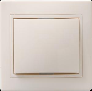 Выключатель 1-клавишный кнопочный звонок ВСк10-1-0-ККм 10А КВАРТА кремовый IEK