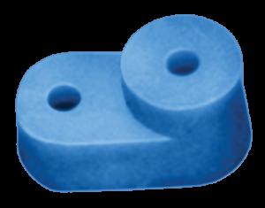 """Угловой изолятор для """"О"""" шины синий IEK"""