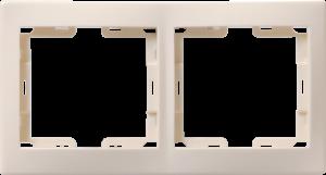 Рамка 2-местная горизонтальная РГ-2-ККм КВАРТА кремовый IEK