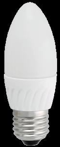 Лампа светодиодная C37 свеча 5Вт 400Лм 230В 3000К E27 IEK