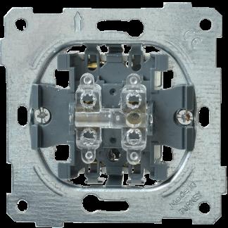 Выключатель 2-клавишный жалюзи ВС10-1-5-Б BOLERO IEK