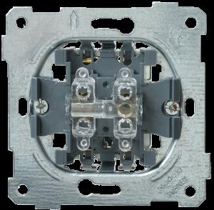 Выключатель 2-клавишный проходной ВС10-2-2-Б 10А BOLERO IEK