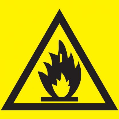 """Самоклеящаяся этикетка 150х150мм """"Пожароопасно"""" IEK"""