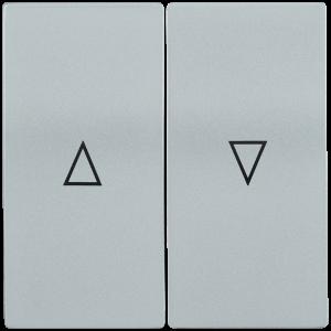 Накладка 2 клавиши для жалюзи HB-1-5-БС BOLERO серебряный IEK