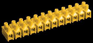 Зажим контактный винтовой ЗВИ-5 н/г 1,5-4,0мм2 12пар желтый IEK