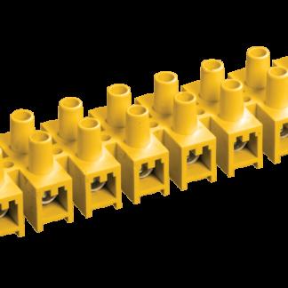Зажим контактный винтовой ЗВИ-10 н/г 2,5-6мм2 12пар желтый IEK