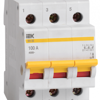 Выключатель нагрузки (мини-рубильник) ВН-32 3Р 25А IEK