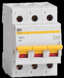 Выключатель нагрузки (мини-рубильник) ВН-32 3Р 32А IEK