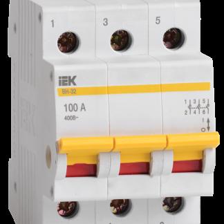 Выключатель нагрузки (мини-рубильник) ВН-32 3Р 40А IEK