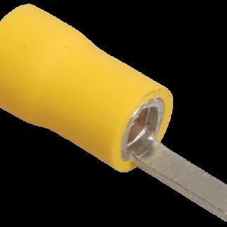 Наконечник изолированный штыревой плоский НпИш 4,0-6,0 желтый (100шт) IEK