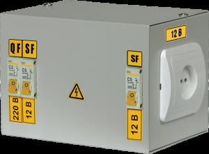Ящик с понижающим трансформатором ЯТП-0,25 220/36-2 36 УХЛ4 IP30 IEK