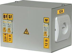 Ящик с понижающим трансформатором ЯТП-0,25 380/24-3 36 УХЛ4 IP30 IEK