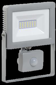 Прожектор светодиодный СДО 07-30Д с датчиком движения IP44 серый IEK