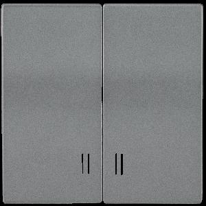 Накладка 2 клавиши с индикацией HB-2-1-БА BOLERO антрацит IEK