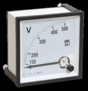 Вольтметр Э47 300В класс точности 1,5 72х72мм IEK