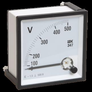 Вольтметр Э47 500В класс точности 1,5 72х72мм IEK