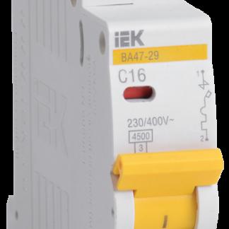 Автоматический выключатель ВА47-29 1Р 1,6А 4,5кА х-ка С IEK