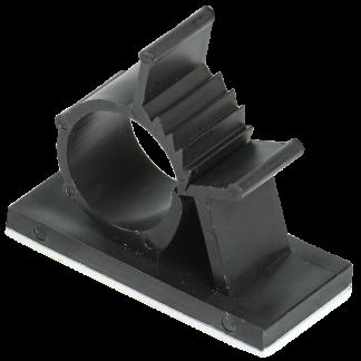 Клипса самоклеящаяся КС-15 черная (24шт) IEK