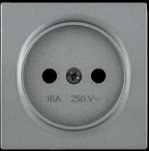 Накладка розетка НР-1-0-БА без заземляющего контакта BOLERO антрацит IEK
