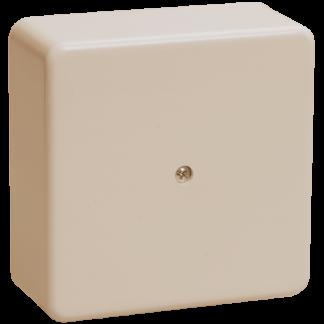 Коробка распаячная КМ41212-02 для о/п 75х75х20мм слоновая кость (6 клемм 6мм2) IEK