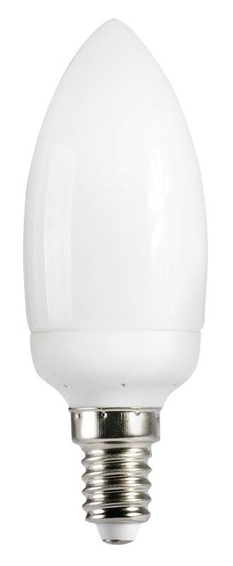 Лампа энергосберегающая КЭЛР-C свеча Е14 9Вт 4000К IEK-eco