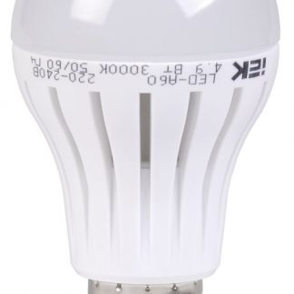 Лампа светодиодная A60 шар 4,9Вт 400Лм 230В 3000К E27 IEK-eco