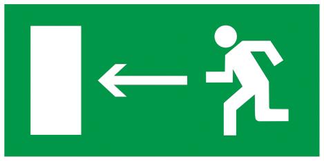 """Самоклеящаяся этикетка 200х100мм """"Направление к эвакуационному выходу налево"""" IEK"""