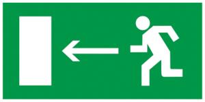 """Самоклеящаяся этикетка 100х50мм """"Направление к эвакуационному выходу налево"""" IEK"""
