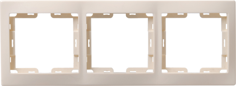 Рамка 3-местная вертикальная РВ-3-ККм КВАРТА кремовый IEK