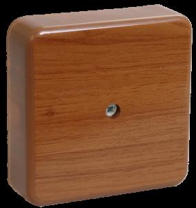 Коробка распаячная КМ для о/п 75х75х28мм дуб IEK
