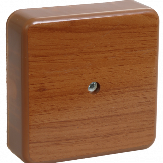 Коробка распаячная КМ41212-05 для о/п 75х75х20мм дуб (6 клемм 6мм2) IEK
