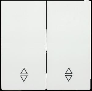 Накладка 2 клавиши для выключателя проходного HB-2-2-ББ BOLERO белый IEK