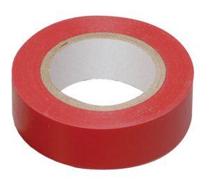 Изолента 0,13х15мм красная 10м IEK
