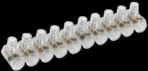 Зажим винтовой концевой изолированный КЗВИ 6,0мм2 (10x1) IEK