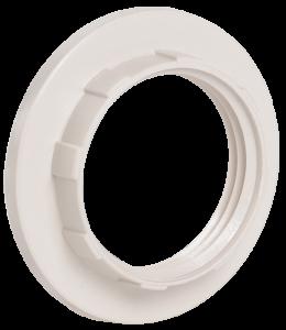 Кольцо к патрону Е14 пластик белый (индивидуальный пакет) IEK