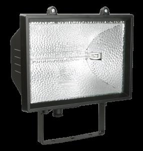 Прожектор галогенный ИО1500 IP54 черный IEK