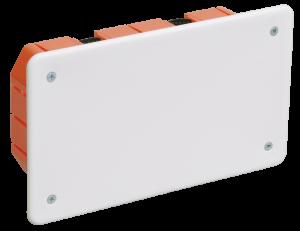 Коробка распаячная КМ41026 172х96x45мм для полых стен (с саморезами, пластиковые лапки, с крышкой) IEK
