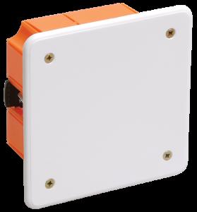 Коробка распаячная КМ41022 92х92x45мм для полых стен (с саморезами, пластиковые лапки, с крышкой) IEK
