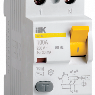 Выключатель дифференциальный (УЗО) ВД1-63 2Р 40А 30мА IEK