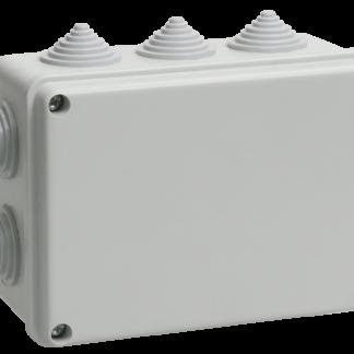 Коробка распаячная КМ41242 для о/п 150х110х70мм IP55 (RAL7035, 10 гермовводов) IEK