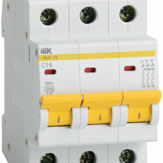 Автоматический выключатель ВА47-29 3Р 10А 4,5кА х-ка D IEK