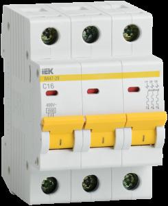 Автоматический выключатель ВА47-29 3Р 13А 4,5кА х-ка D IEK