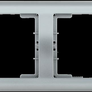 Рамка 2-местная горизонтальная РГ-2-БС BOLERO серебряный IEK