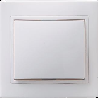 Розетка 1-местная РС10-2-КБ без заземляющего контакта без защитной шторки 10А КВАРТА белый IEK