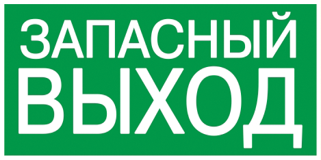 """Самоклеящаяся этикетка 200х100мм """"ЗАПАСНЫЙ ВЫХОД"""" IEK"""