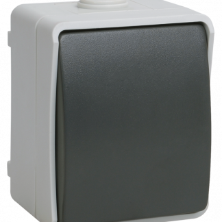 Выключатель 1-клавишный для открытой установки кнопочный ВСк20-1-0-ФСр ФОРС IP54 IEK