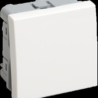Выключатель проходной (переключатель) одноклавишный ВК4-21-00-П (на 2 модуля) ПРАЙМЕР белый IEK