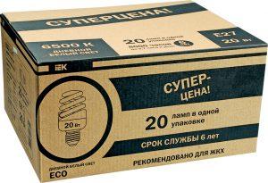 Лампа энергосберегающая КЭЛP-FS спираль Е27 15Вт 4000К (ЖКХПАК 20шт) IEK-eco